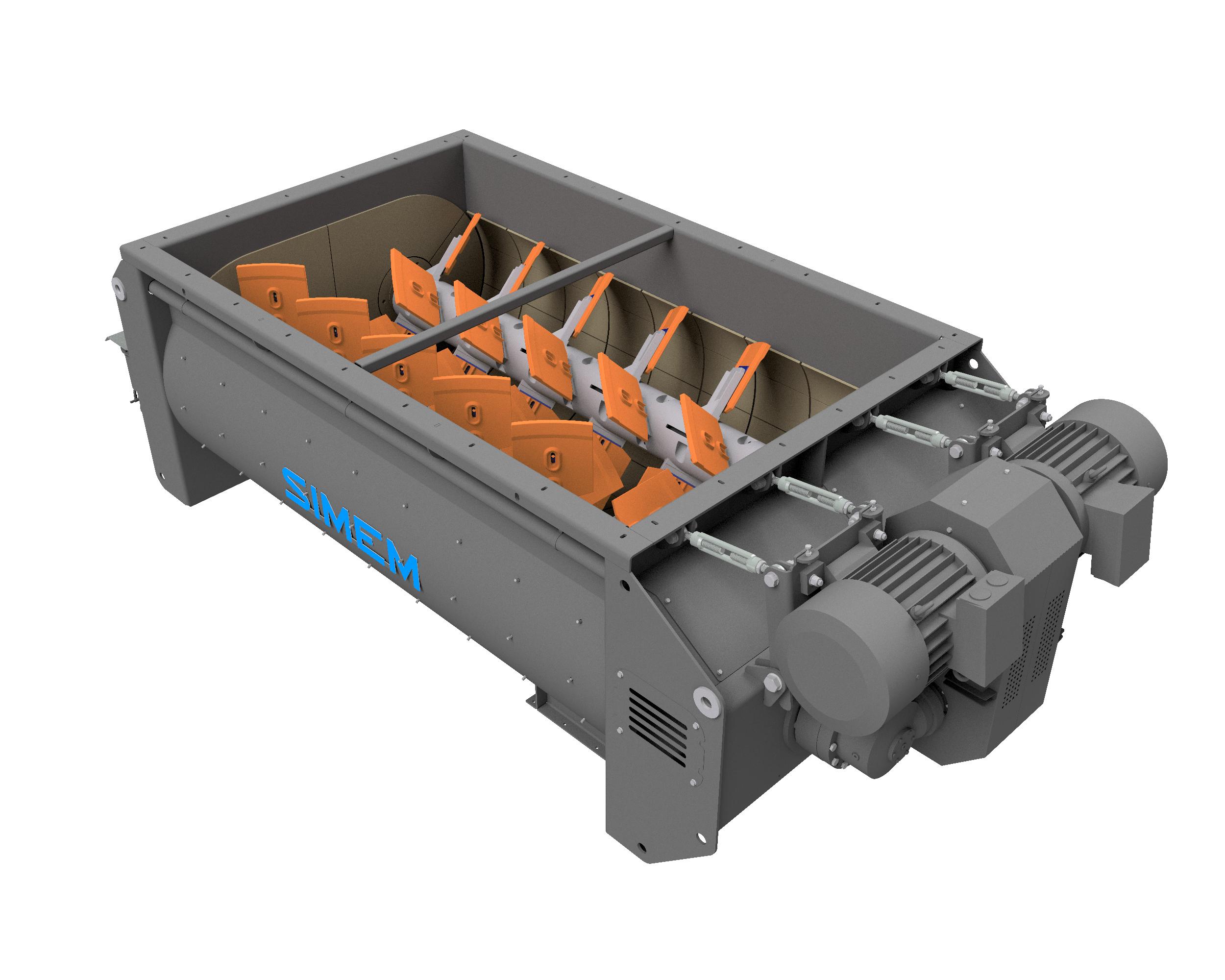Simem MDC twin shaft mixer