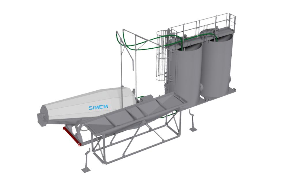 Simem Betonwash water recycling system